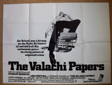 The Valachi Papers - UK Quad Poster